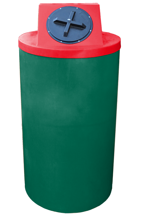 Hunter Green Big Bin with Red Lid