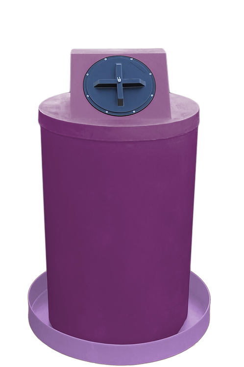 Wine Drum Crown with Purple spill pan