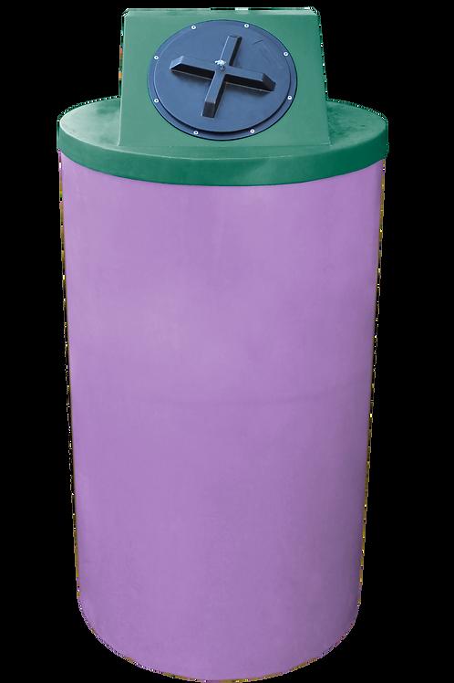 Purple Big Bin with Hunter Green Lid