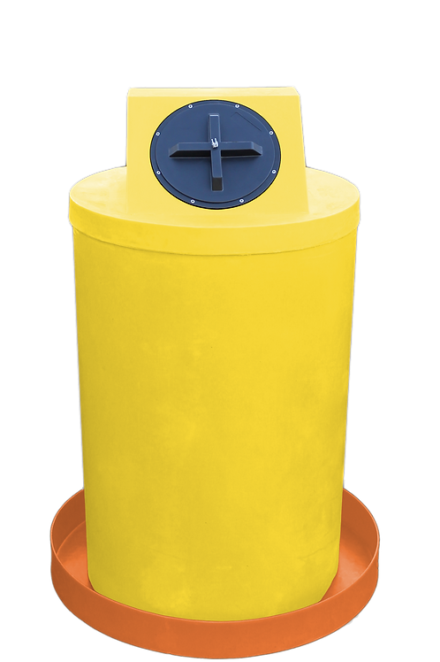Yellow Drum Crown with Orange spill pan