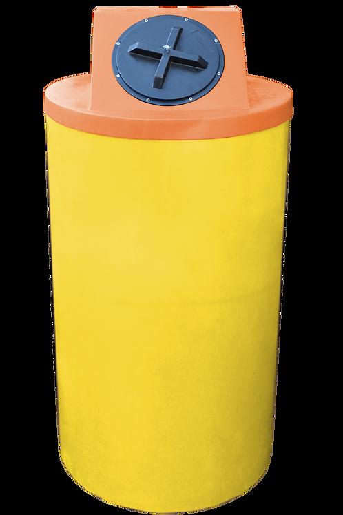 Yellow Big Bin with Orange Lid