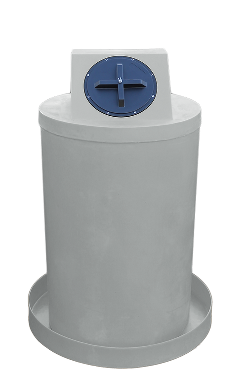 Light Gray Drum Crown with Light Gray spill pan