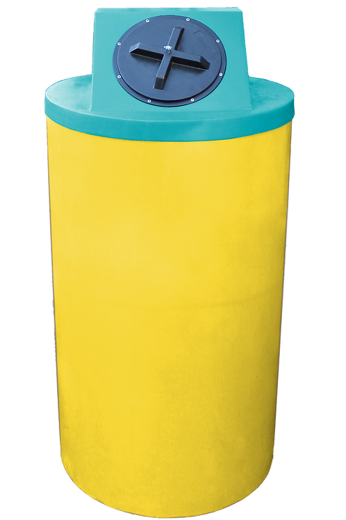 Yellow Big Bin with Jade Lid