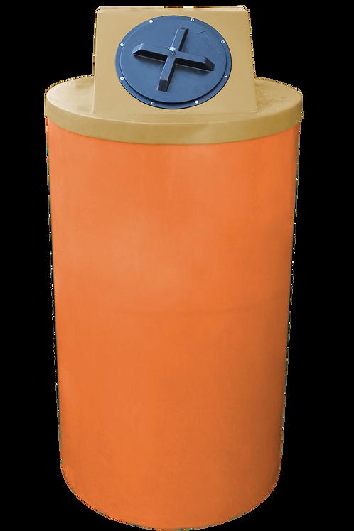 Orange Big Bin with Gold Lid