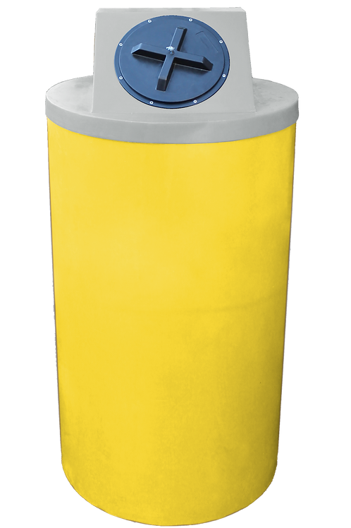 Yellow Big Bin with Light Gray Lid
