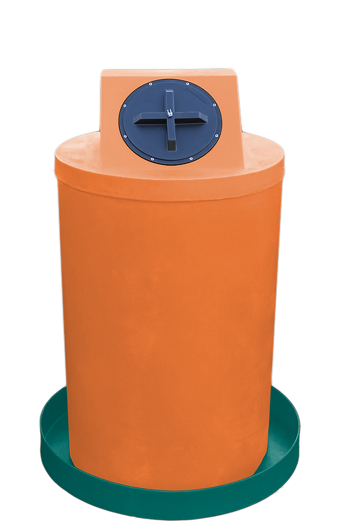 Orange Drum Crown with Forest Green spill pan