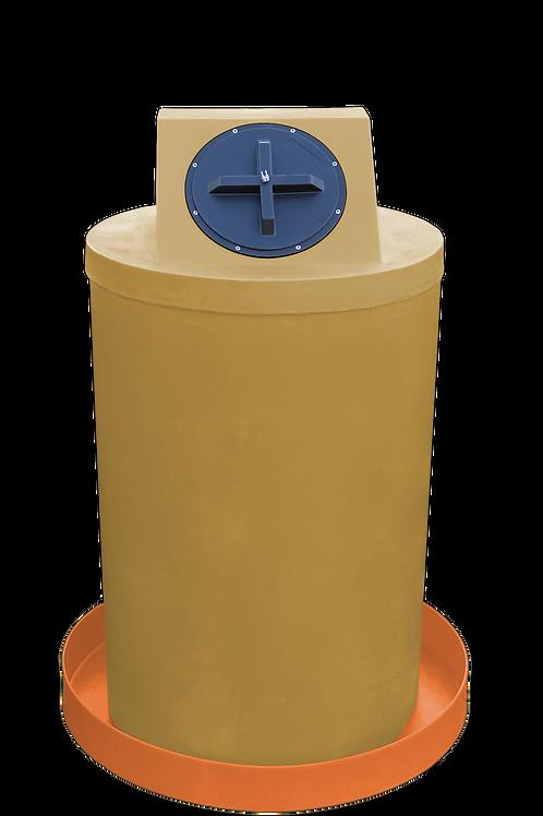 Gold Drum Crown with Orange spill pan