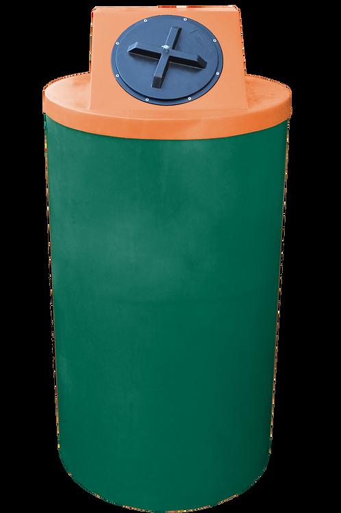 Hunter Green Big Bin with Orange Lid
