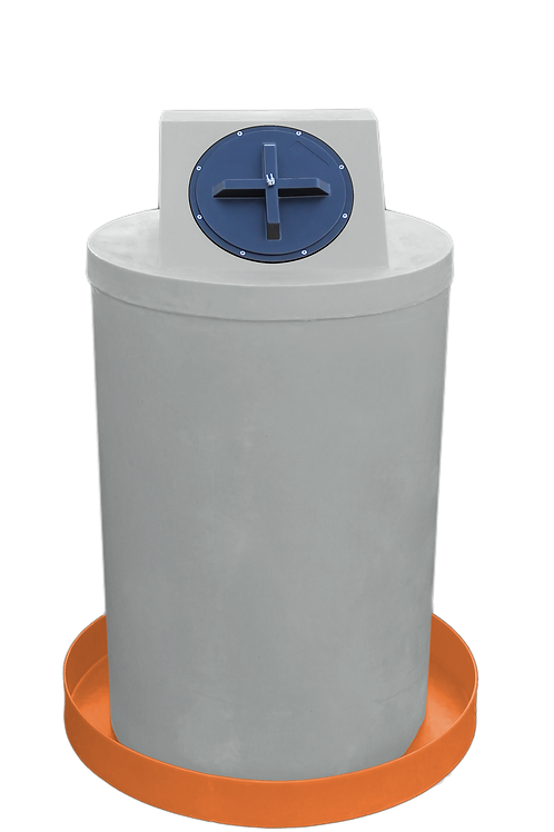 Light Gray Drum Crown with Orange spill pan