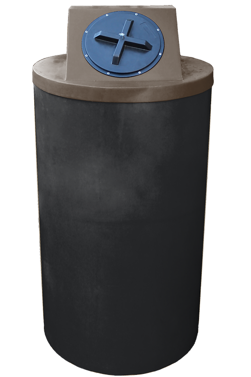Black Big Bin with Brown lid