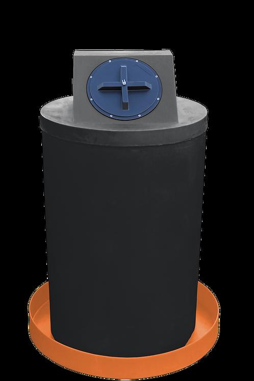 Black Drum Crown with Orange spill pan