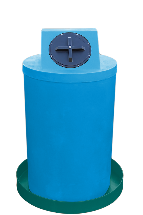 Cadet Blue Drum Crown with Forest Green spill pan
