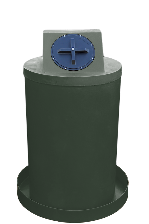 Bottle Green Drum Crown with Bottle Green spill pan
