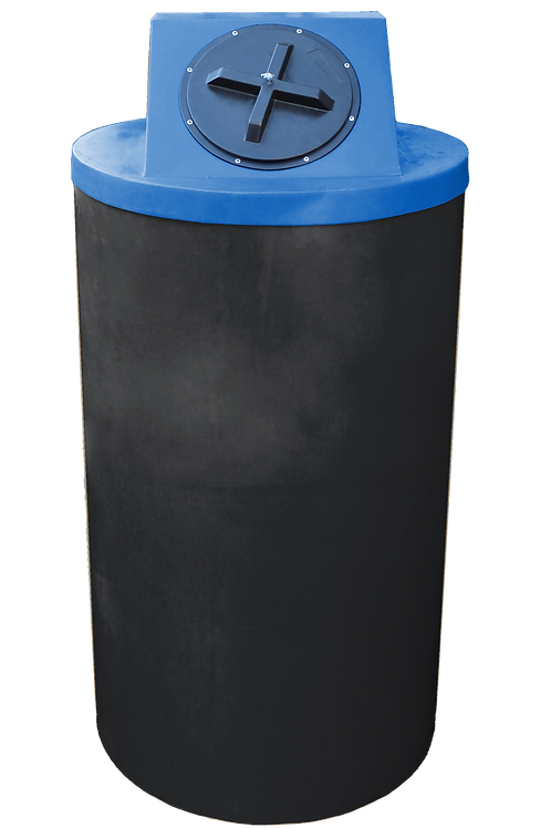 Black Big Bin with Royal lid