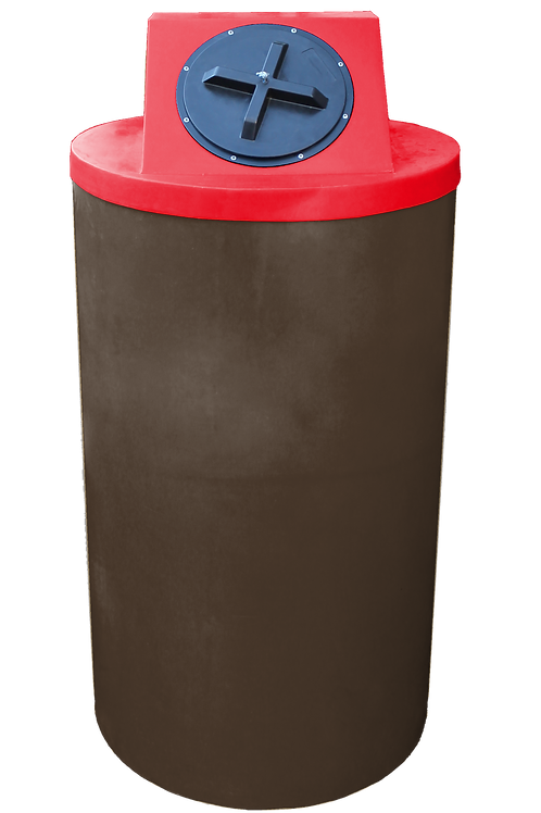 Brown Big Bin with Red Lid