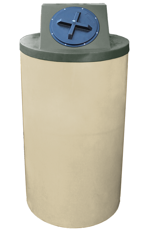Tan Big Bin with Bottle Green Lid