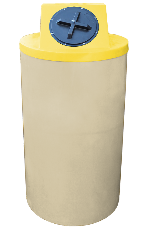 Tan Big Bin with Yellow Lid