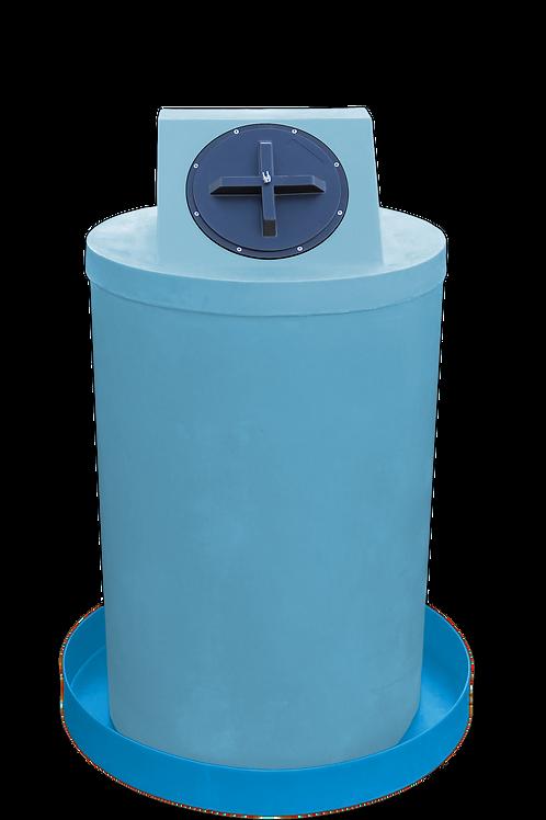 Powder Drum Crown with Cadet Blue spill pan