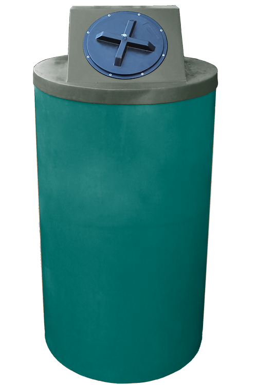 Forest Green Big Bin with Bottle Green Lid