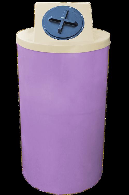 Purple Big Bin with Tan Lid