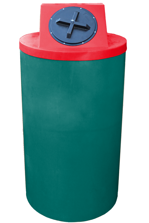 Forest Green Big Bin with Red Lid