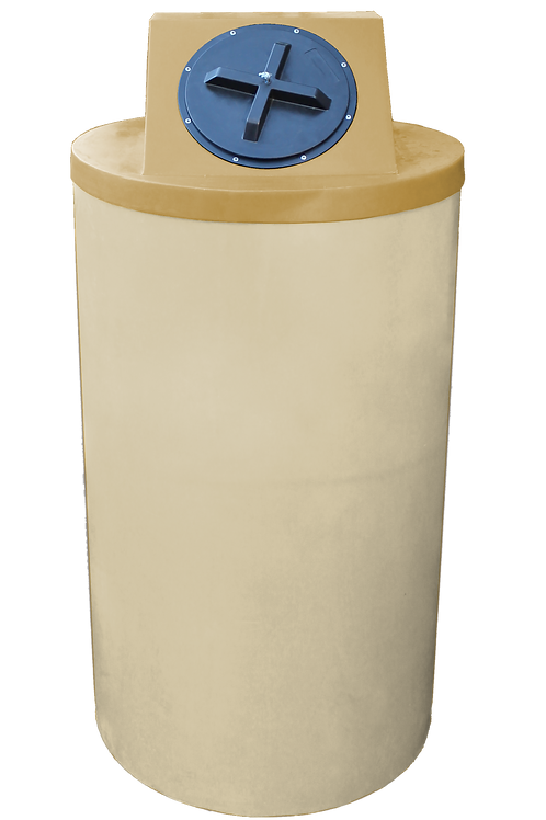 Tan Big Bin with Gold Lid
