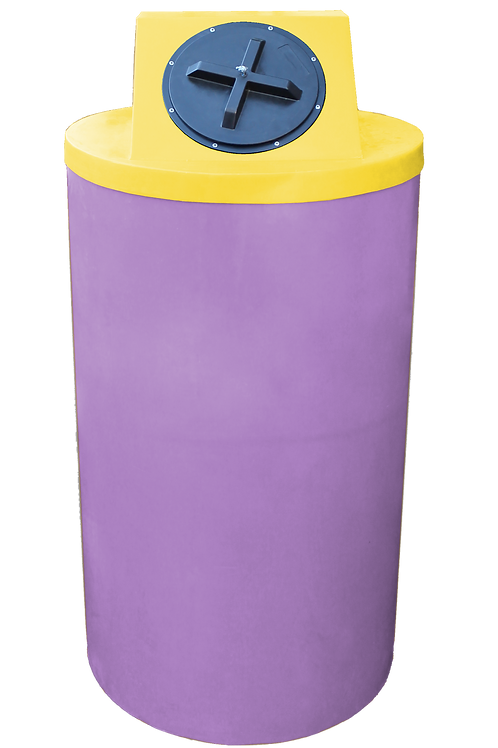 Purple Big Bin with Yellow Lid