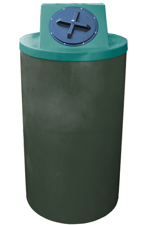 Bottle Green Big Bin with Forest Green lid