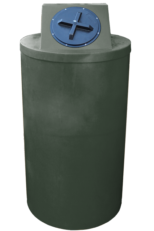 Bottle Green Big Bin with Bottle Green lid