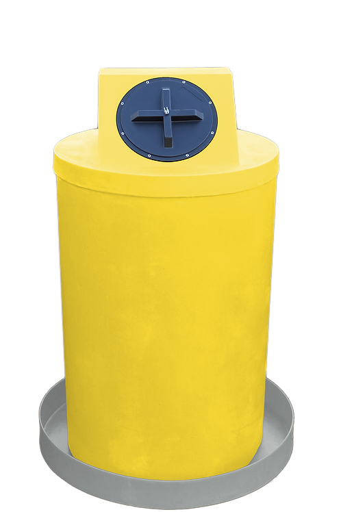 Yellow Drum Crown with Light Gray spill pan