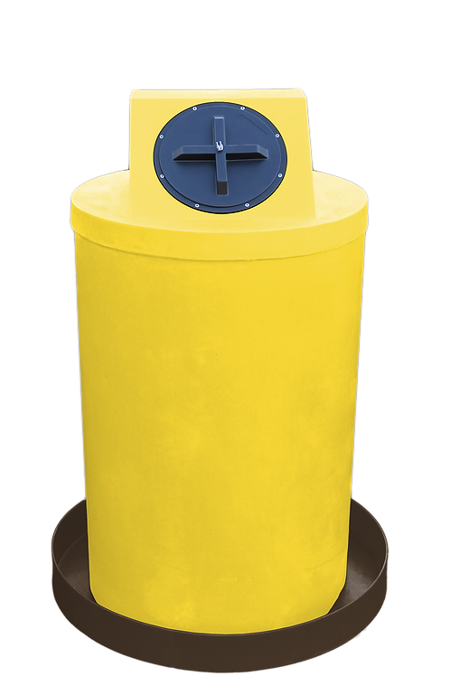 Yellow Drum Crown with Brown spill pan