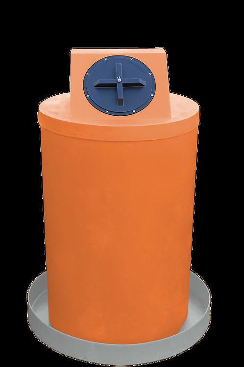 Orange Drum Crown with Light Gray spill pan