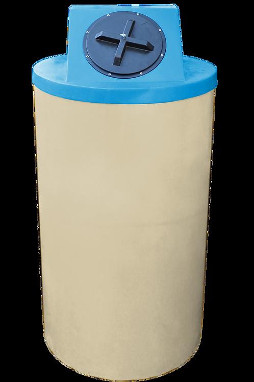 Tan Big Bin with Cadet Blue Lid
