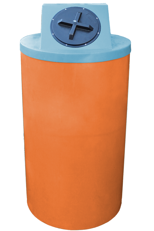Orange Big Bin with Powder Lid