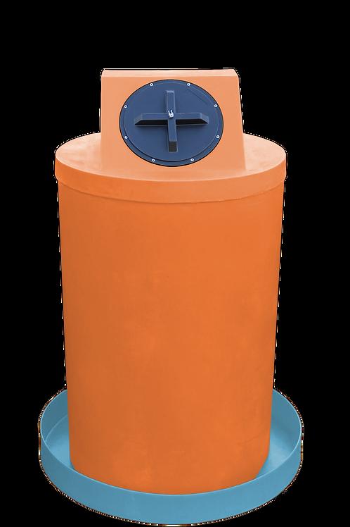 Orange Drum Crown with Powder spill pan