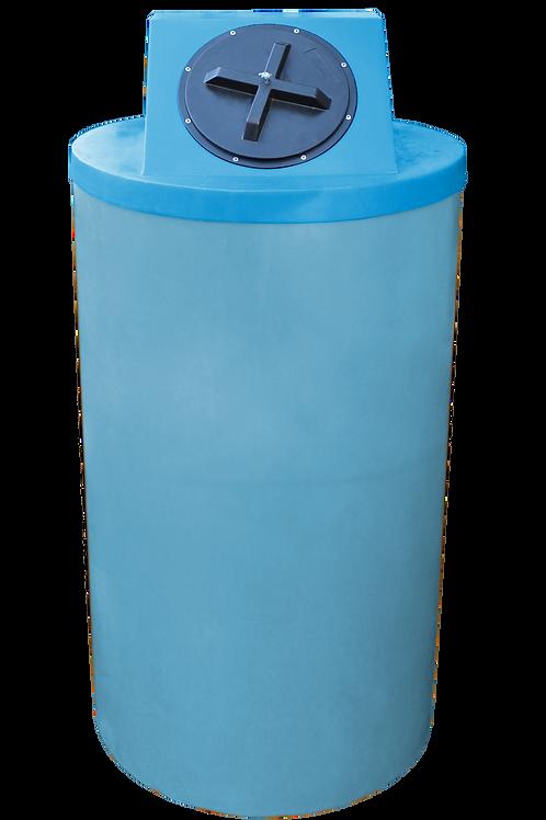 Powder Big Bin with Cadet Blue Lid