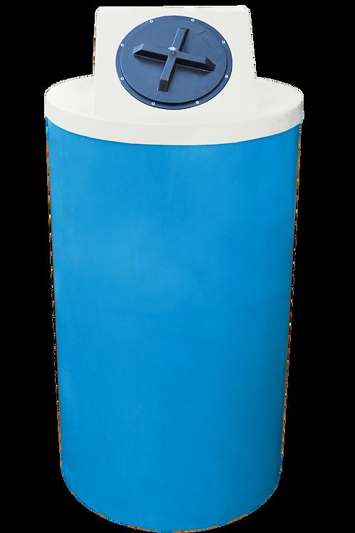 Cadet Blue Big Bin with Natural Lid