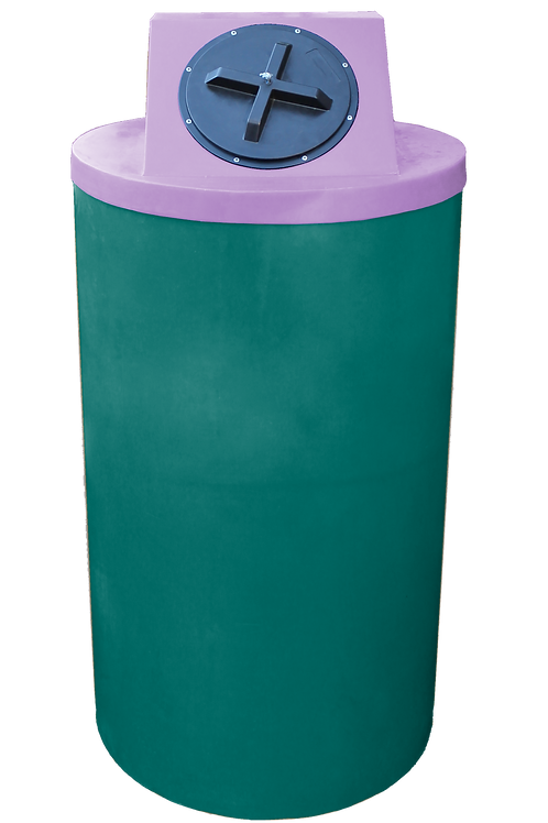 Forest Green Big Bin with Purple Lid