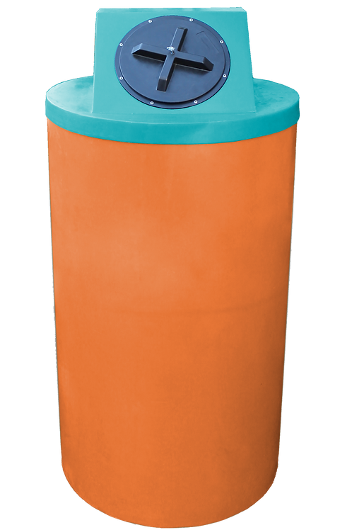 Orange Big Bin with Jade Lid