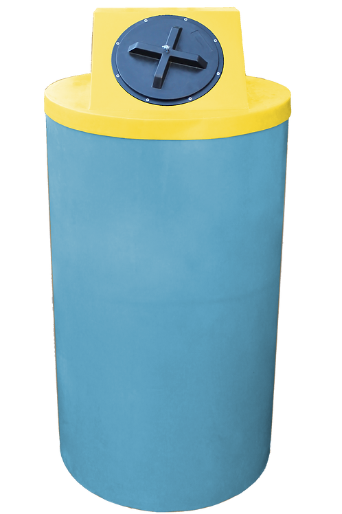 Powder Big Bin with Yellow Lid