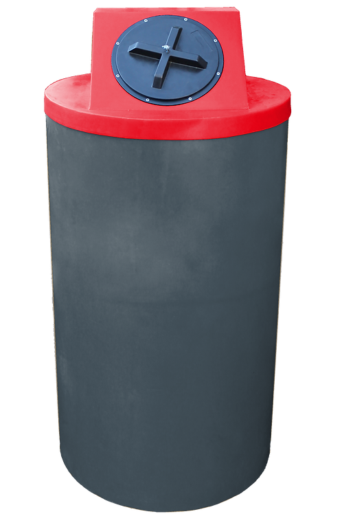 Dark Gray Big Bin with Red Lid