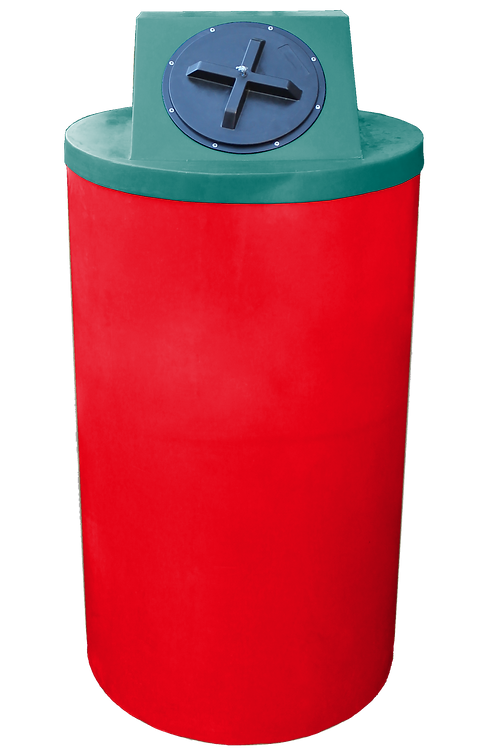 Red Big Bin with Forest Green Lid
