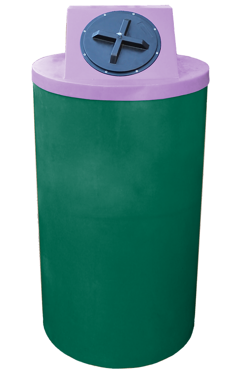 Hunter Green Big Bin with Purple Lid