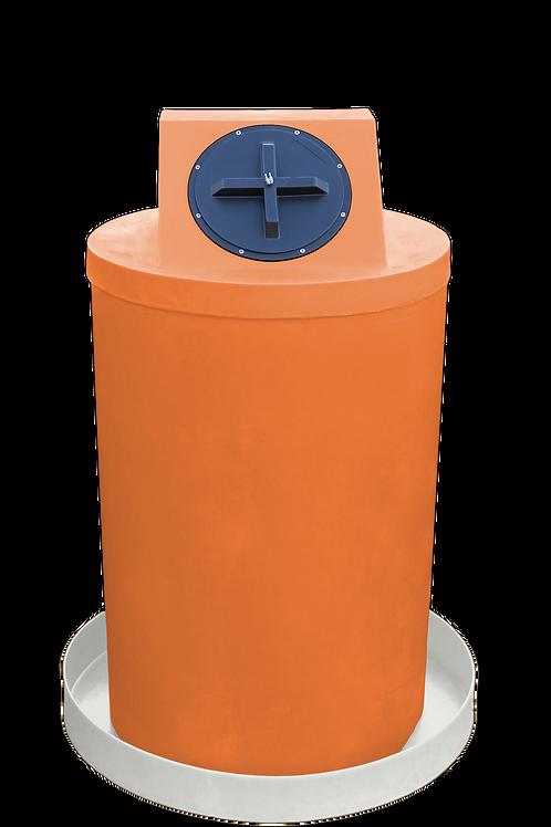 Orange Drum Crown with Natural spill pan