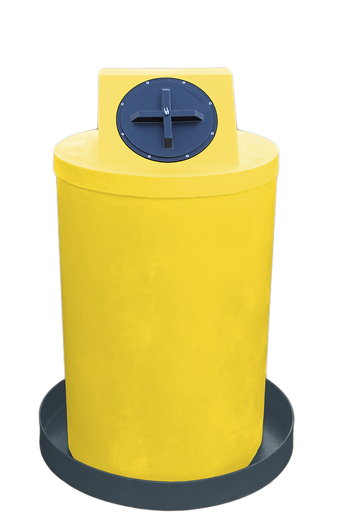 Yellow Drum Crown with Dark Gray spill pan