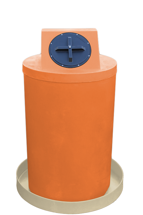 Orange Drum Crown with Tan spill pan