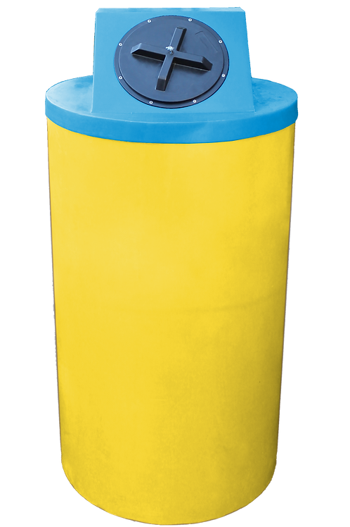 Yellow Big Bin with Cadet Blue Lid