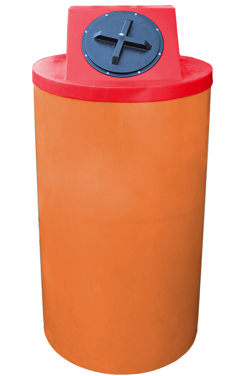 Orange Big Bin with Red Lid