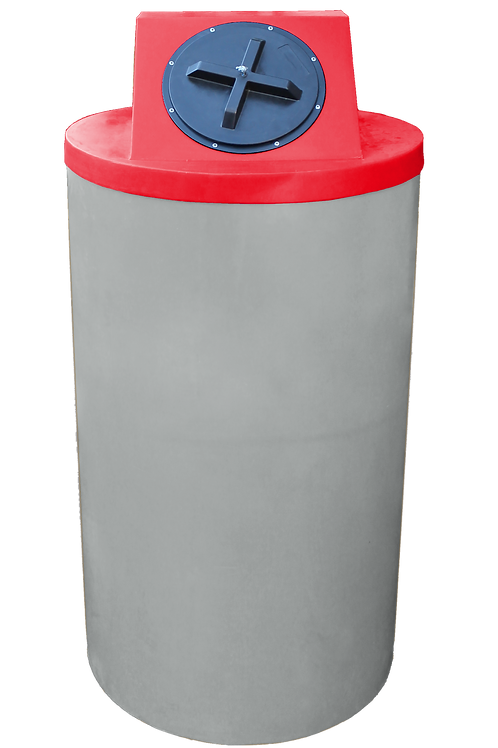 Light Gray Big Bin with Red Lid