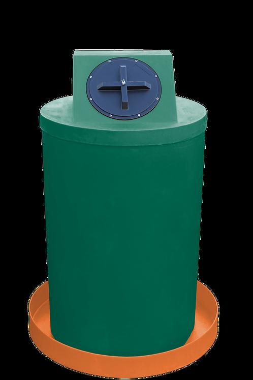 Hunter Green Drum Crown with Orange spill pan